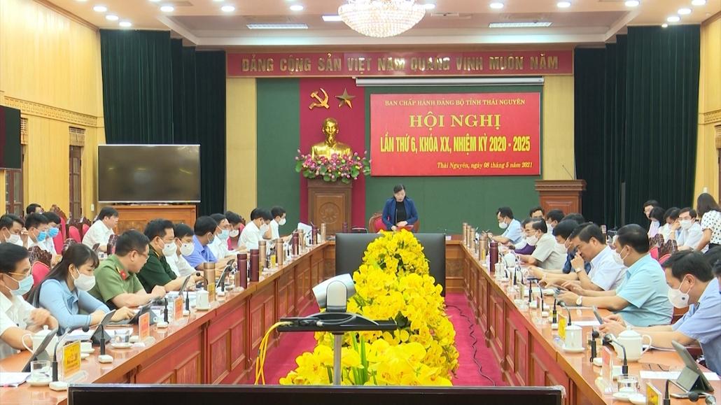 Hội nghị Ban chấp hành Đảng bộ tỉnh lần thứ 6, khóa XX, nhiệm kỳ 2020-2025