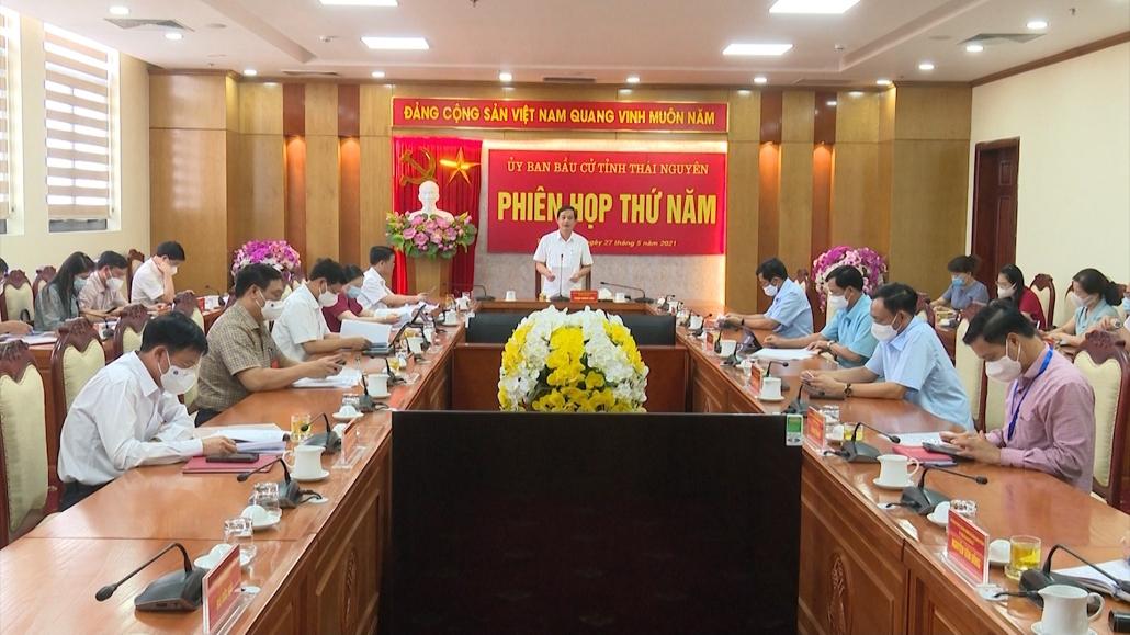 Ủy ban bầu cử tỉnh họp phiên thứ 5