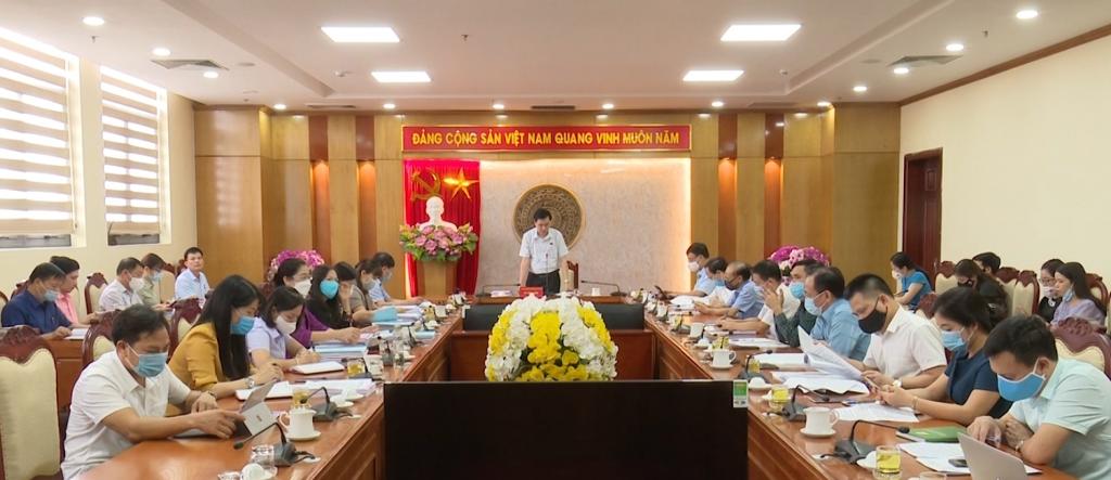 Thẩm tra các nội dung trình tại kỳ họp thứ nhất, HĐND tỉnh khóa XIV, nhiệm kỳ 2021- 2026