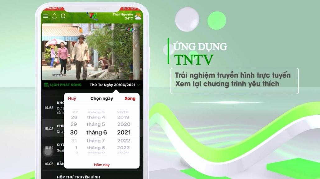 App TNTV - Ứng dụng chuyển đổi số của Đài PT-TH Thái Nguyên