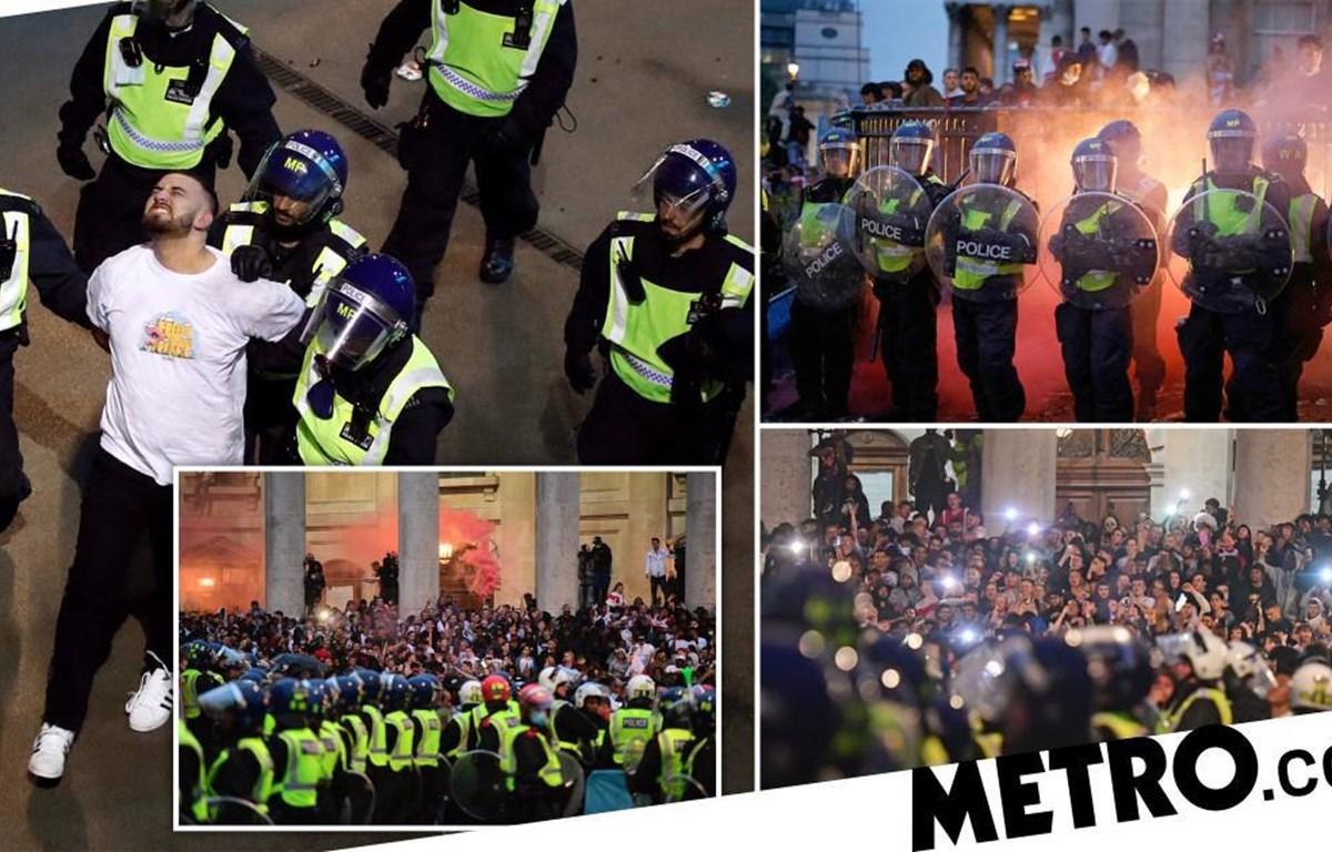 EURO 2020: Cảnh sát London bắt giữ 45 đối tượng gây rối