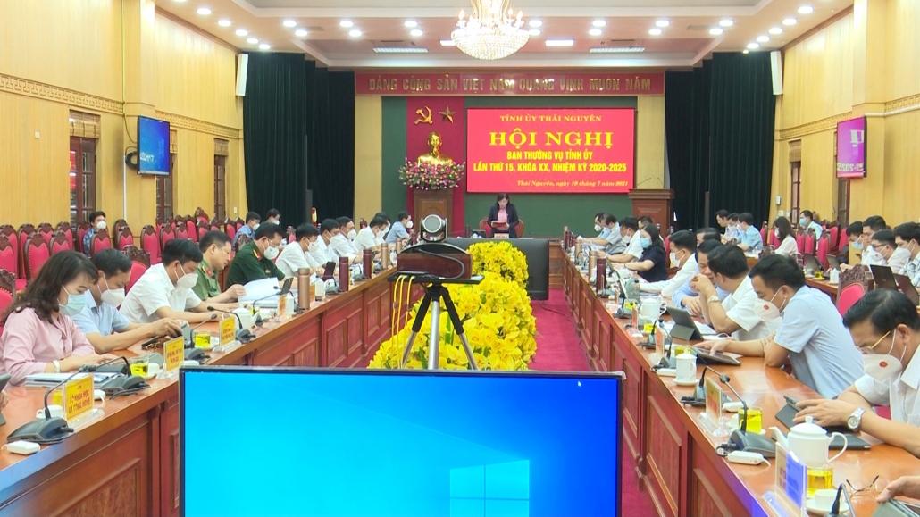 Hội nghị Ban Thường vụ Tỉnh ủy lần thứ 15, khóa XX, nhiệm kỳ 2020-2025