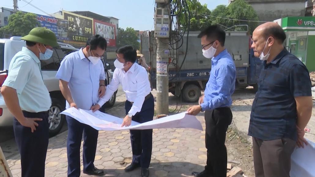 Lãnh đạo tỉnh kiểm tra 1 số dự án tại thị xã Phổ Yên
