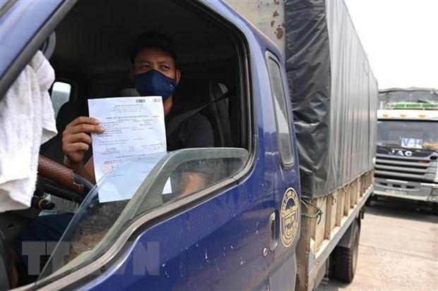 Bộ Y tế đề nghị công nhận xét nghiệm test nhanh với tài xế chở hàng
