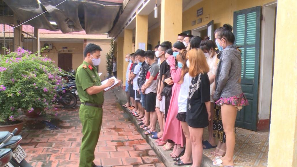 Thái Nguyên: Phát hiện 28 nam, nữ tụ tập tại khách sạn trong mùa dịch COVID–19