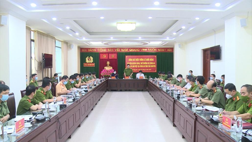 Thứ trưởng Bộ Công an thăm và làm việc tại Công an tỉnh Thái Nguyên