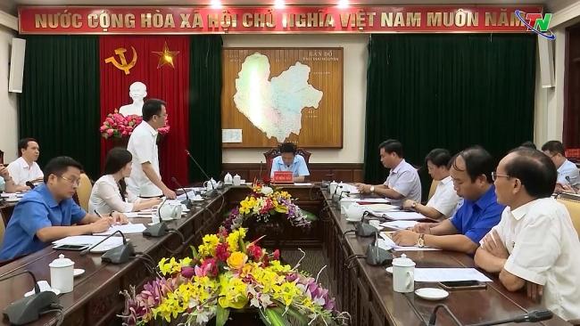Chuẩn bị tổ chức chương trình gắn biển chào mừng Đại hội đại biểu Đảng bộ tỉnh Thái Nguyên lần thứ XX