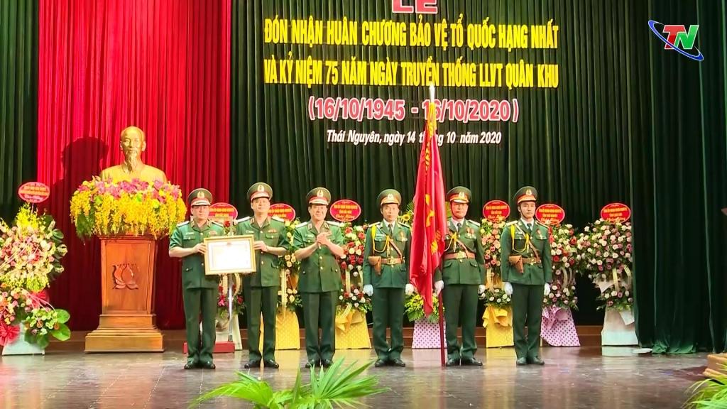 Quân khu 1 đón nhận Huân chương Bảo vệ Tổ quốc hạng Nhất