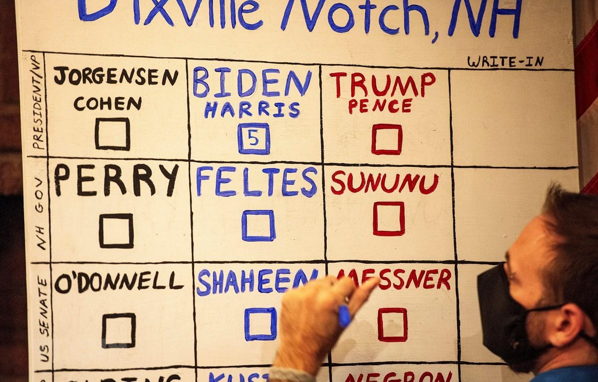 Ông Biden thắng ông Trump ở nơi ''khởi động'' Ngày bầu cử chính thức