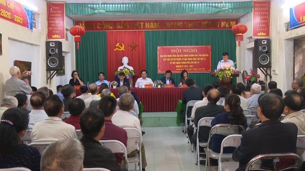 Tiếp xúc cử tri trước kỳ họp thứ 12, Hội đồng nhân dân tỉnh Thái Nguyên khóa XIII