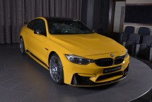 an tuong voi bmw m4 coupe speed yellow mau vang tuyet dep