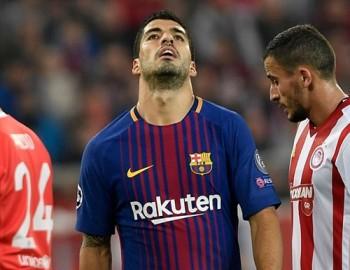 Hiệu suất ghi bàn của Suarez thấp kỷ lục