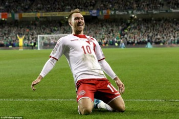 Ngôi sao Tottenham lập hat-trick, Đan Mạch giành vé dự World Cup 2018