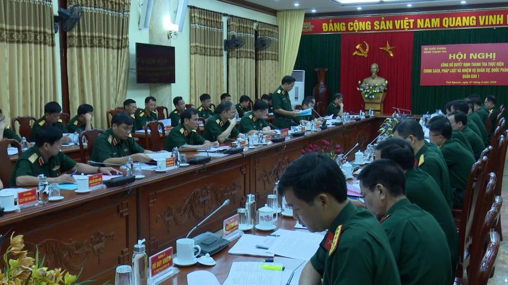 Thanh tra kết quả thực hiện nhiệm vụ quân sự, quốc phòng tại Quân khu 1
