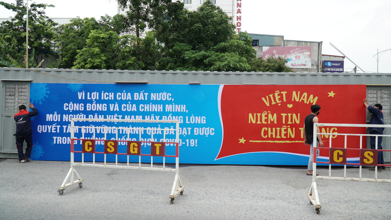 [Photo] Thái Nguyên tăng cường tuyên truyền trực quan phòng chống COVID-19