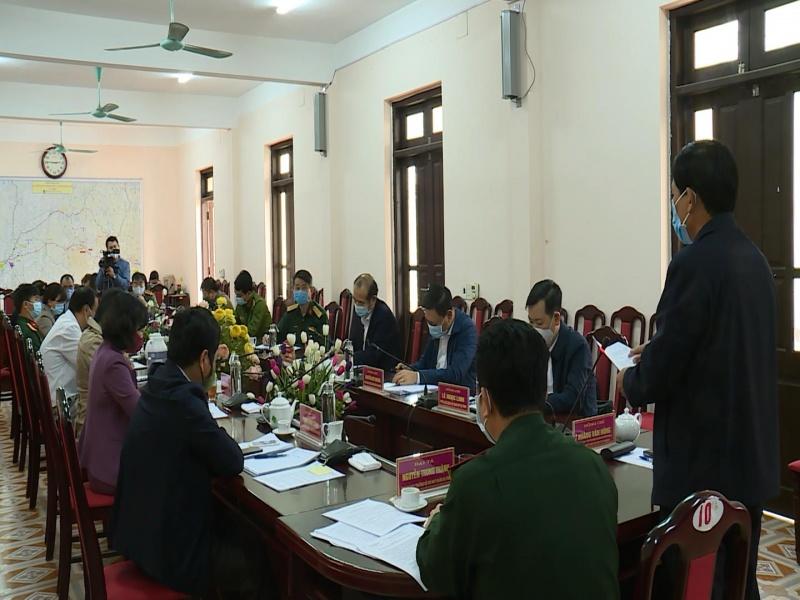 Kiểm tra công tác phòng, chống dịch COVID-19 tại Phú Lương