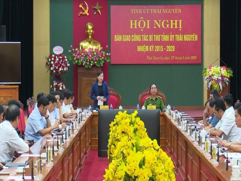 hoi nghi ban giao cong tac bi thu tinh uy thai nguyen nhiem ky 2015 2020