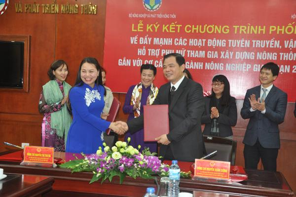 Bộ NN&PTNT và Hội Phụ nữ Việt Nam bắt tay xây dựng nông thôn mới