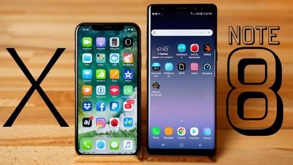 nho iphone x va galaxy note8 gia smartphone trung binh trong nam 2017 cao ky luc