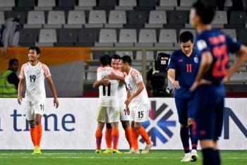 Báo Thái Lan thất vọng não nề sau thảm bại trước Ấn Độ