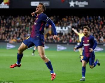 coutinho ghi ban barcelona vao chung ket cup nha vua
