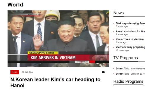 Truyền thông Nhật-Hàn cùng đưa tin ông Kim Jong-un đã tới Việt Nam