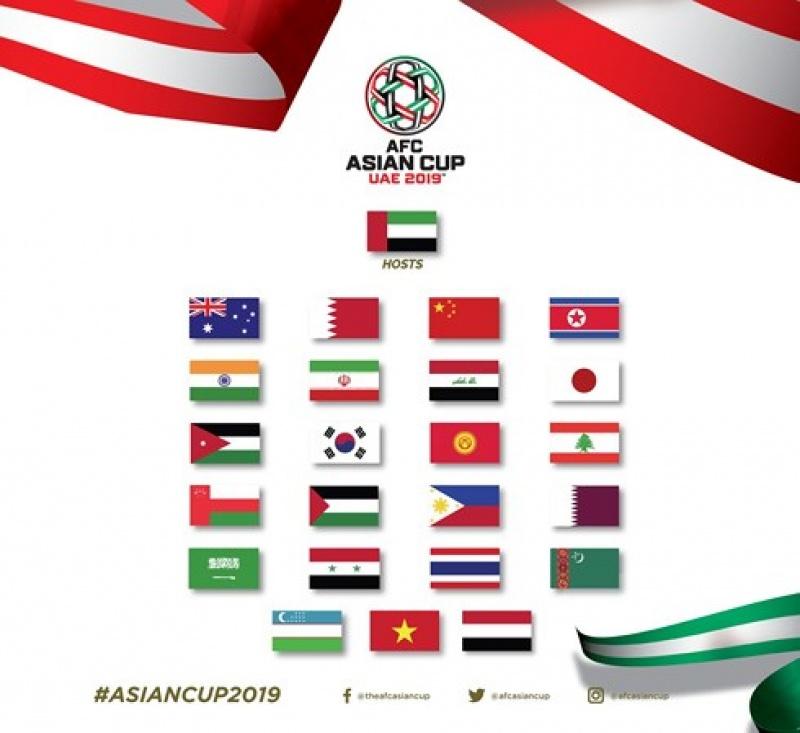 Khu vực Đông Nam Á góp 3 đại diện ở VCK Asian Cup 2019