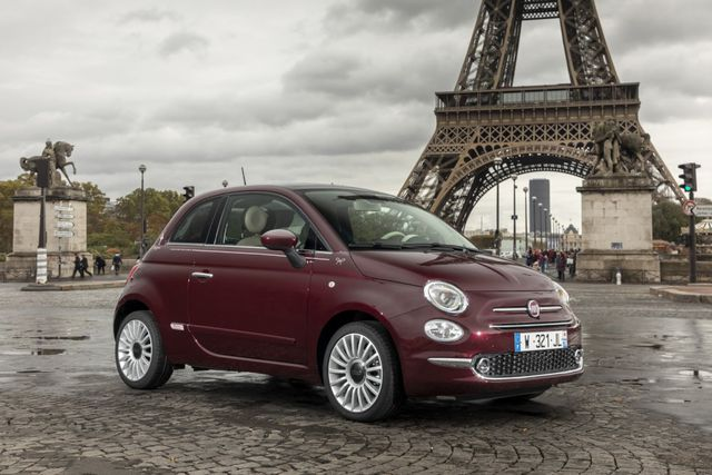 fiat 500 se tro thanh xe chay dien