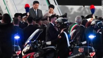 """Italy """"trải thảm đỏ"""" tiếp đón Chủ tịch Trung Quốc Tập Cận Bình"""