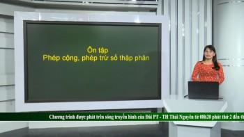 on tap kien thuc pho thong mon toan lop 5 phep cong phep tru so thap phan
