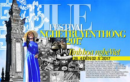 Tái hiện hội họa Huế trên tà áo dài tại Festival nghề truyền thống