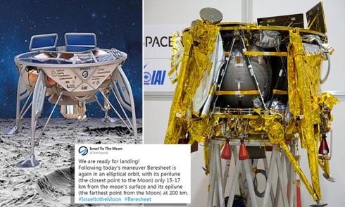 Tàu vũ trụ của Israel thất bại khi hạ cánh mềm xuống Mặt trăng