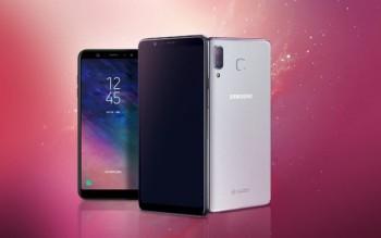 samsung trinh lang smartphone galaxy a9 star voi thiet ke giong iphone x