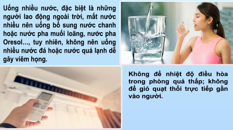 infographics 7 bien phap phong benh mua nang nong