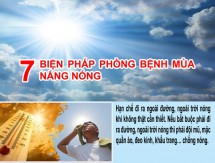 infographic 7 bien phap phong benh mua nang nong