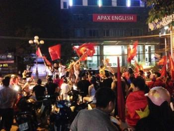 Người dân Thái Nguyên mừng chiến thắng lịch sử của đội tuyển Olympic Việt Nam
