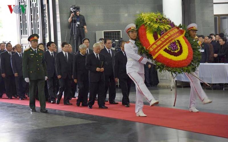 Đoàn đại biểu Đảng, Nhà nước viếng đồng chí Chủ tịch nước Trần Đại Quang