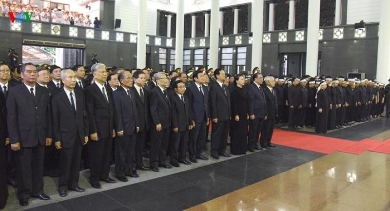 Hình ảnh xúc động Lễ truy điệu Chủ tịch nước Trần Đại Quang