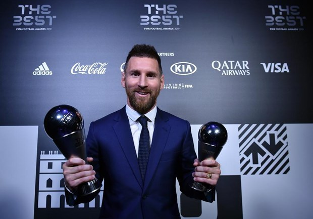 Messi lần thứ 6 giành giải thưởng Cầu thủ xuất sắc nhất năm của FIFA