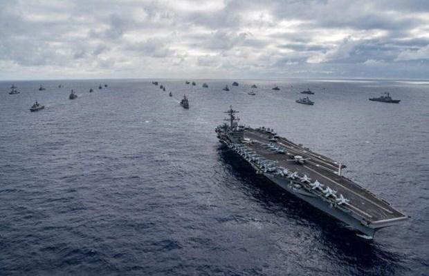 Mỹ, Ấn Độ và Nhật Bản tiến hành tập trận hải quân quy mô lớn