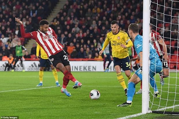 Hạ Arsenal, tân binh Sheffield United đẩy M.U xuống vị trí thứ 14