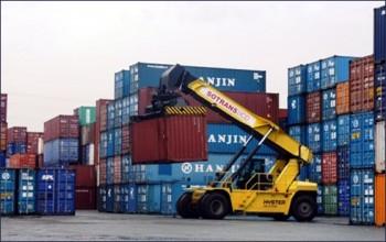 hanjin pha san hon 4000 container dang o cang viet nam