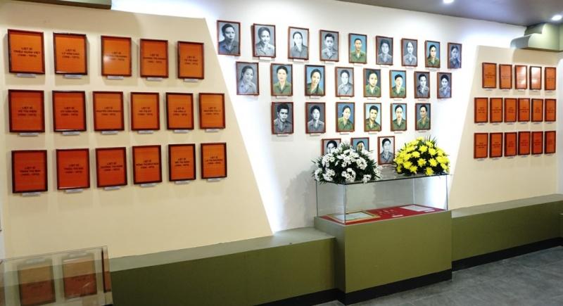 Không gian trưng bày tài liệu, hiện vật thanh niên xung phong Đại đội 915, Đội 91 Bắc Thái