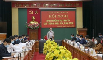 Thái Nguyên: Hội nghị Ban Thường vụ Tỉnh ủy lần thứ 60, khóa XIX, năm 2020