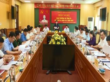 Hội nghị Ban Thường vụ Tỉnh ủy lần thứ 63, khóa XIX