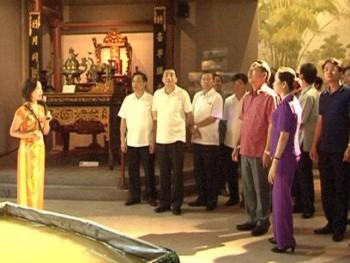 Đoàn công tác tỉnh Ninh Bình thăm quan một số địa điểm du lịch tại thành phố Thái Nguyên