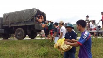 Tìm kiếm người mất tích và cứu trợ nhân dân trên địa bàn huyện Minh Hóa