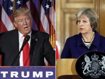 Ông Donald Trump mời Thủ tướng Anh thăm Mỹ càng sớm càng tốt