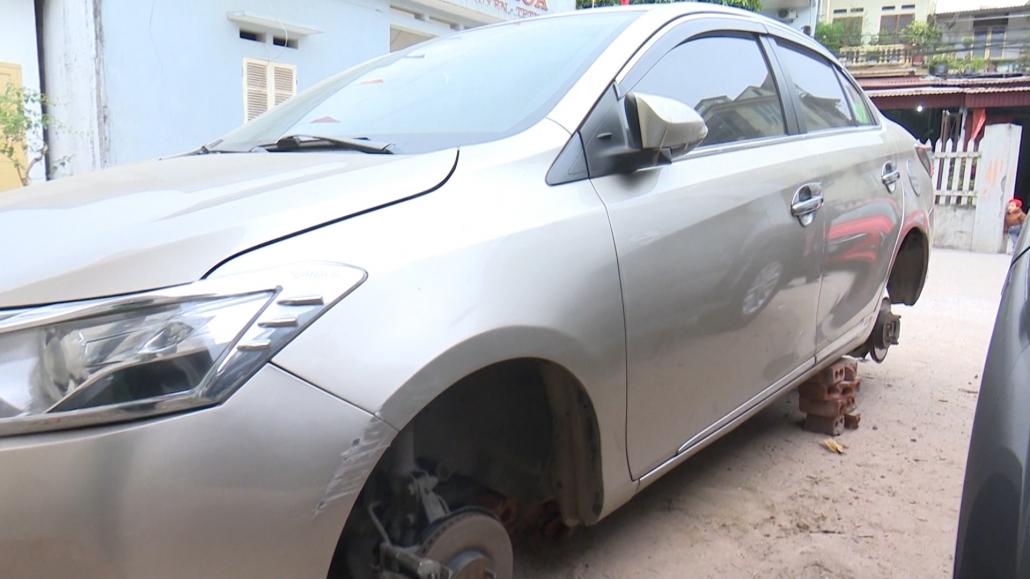 Cảnh báo tình trạng tháo trộm lốp ô tô tại thành phố Thái Nguyên