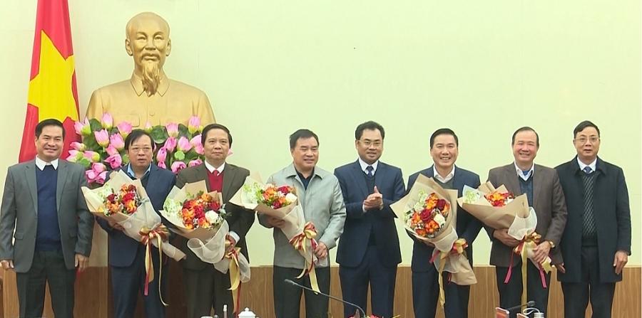 Gặp mặt các đồng chí nguyên Thường trực Tỉnh ủy, nguyên Ủy viên BTV Tỉnh ủy khóa XIX (TS 14/1)